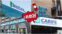 crash banche,profilo di rischio,bail-in,,mifid,fallimento, risparmio tradito, risparmiatori truffati